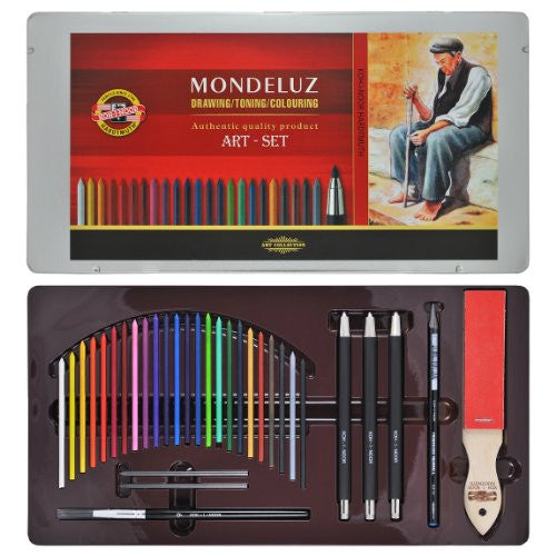 Koh-I-Noor Mondeluz Art 32-Piece Tin Set
