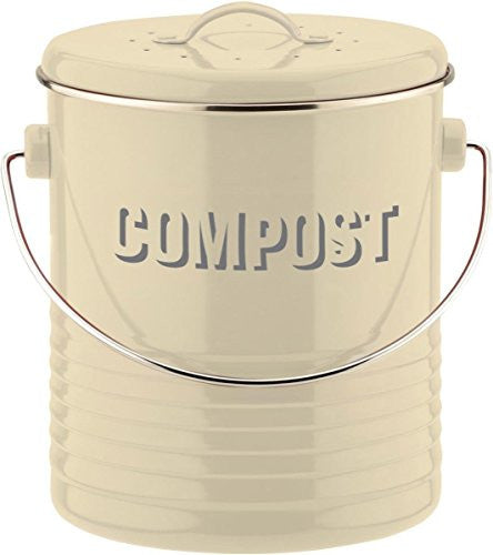 VINTAGE KIT CREAM COMPOST CADDY