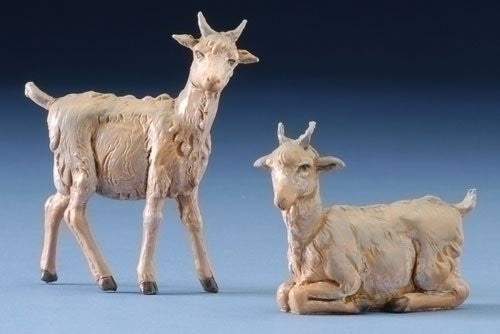 "2PC ST 5"" GOAT FIGURE FONTANINI"