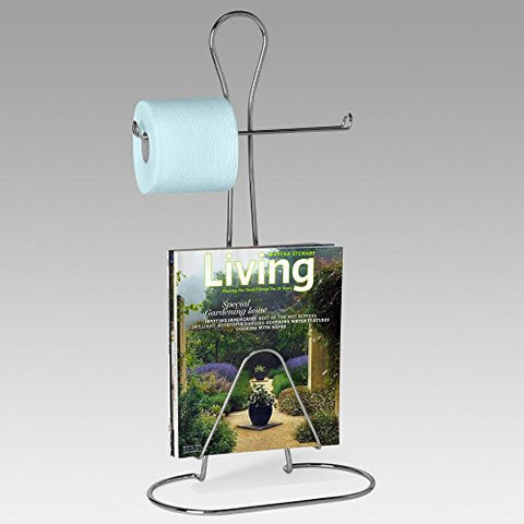 Bathman Toilet Tissue Holder with Magazine Rack - Chrome