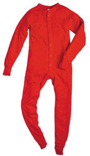 YOUTH 5.5 OZ. UNIONSUITS 1X1 RIB 100% COTTON RED - Large
