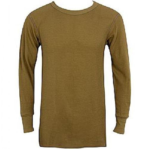 MENS TOPS 7.5 OZ. ICETEX DUAL FACE COT/FLEECED HYDROPUR KHAKI - Medium