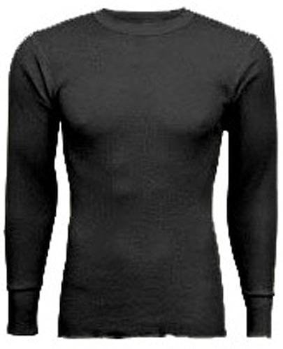 Indera - Mens Regular and Tall Long Sleeve Thermal Top, 800LS (Black / X-Large)