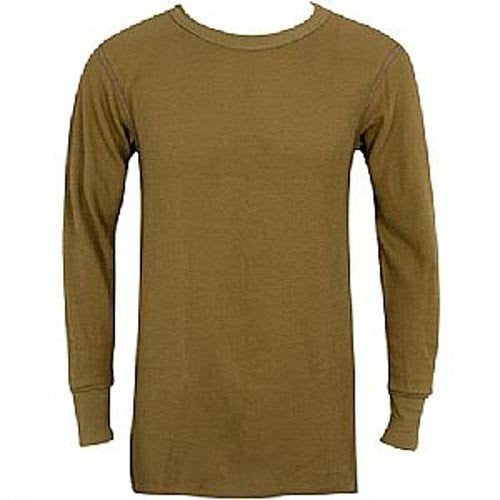 MENS TOPS 7.5 OZ. ICETEX DUAL FACE COT/FLEECED HYDROPUR KHAKI - Large