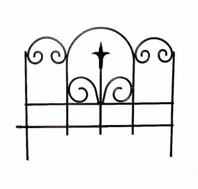 "Panacea Garden Edge with Finial, Black, 18""W, Pack of 12"