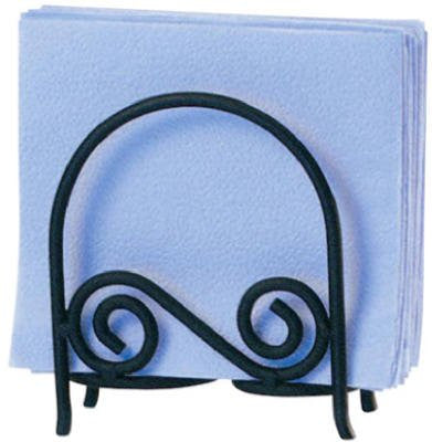 Scroll Arch Napkin Holder - Black