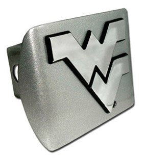 West Virginia Brushed Chrome Hitch Cover