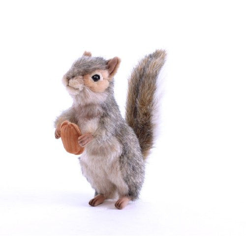 "Hansa Squirrel Plush, 8"", Gray"