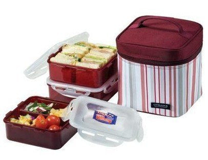 LUNCH BOX 3P SET 1.2L PURPLE