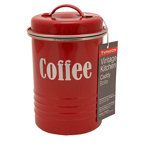 V/TGE RED COFFEE CANISTER