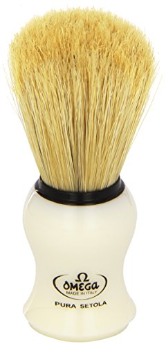 10066 Pure Bristle Shaving Brush, Plastic Handle, Beige