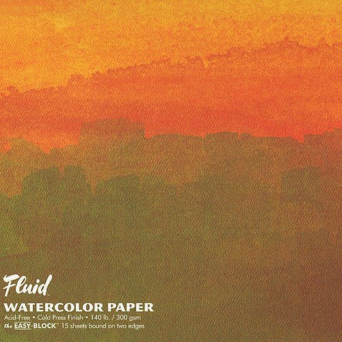 Global Art FLUID 15 SHT WC BLOCK 8X8 Cold Press