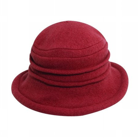 Scala Collezione Women's Boiled 100% Wool Cloche Hat (Rust / One Size)