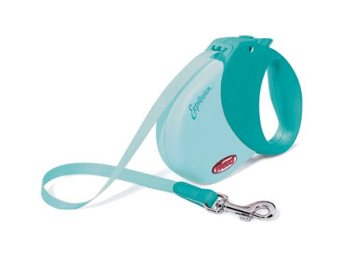 Expression Comfort Belt Retractable Leash - Turquoise, Medium