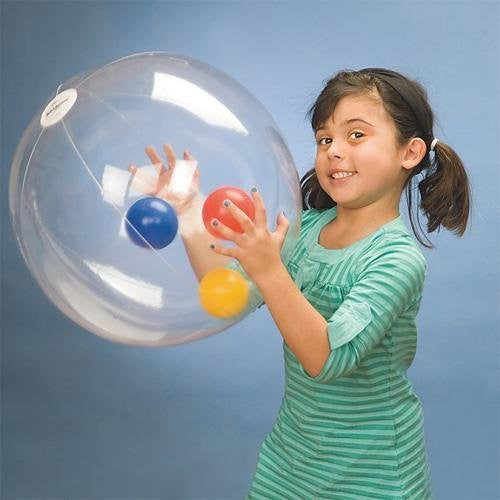 BeachBalzeez Clear Beach Ball, 24-Inch