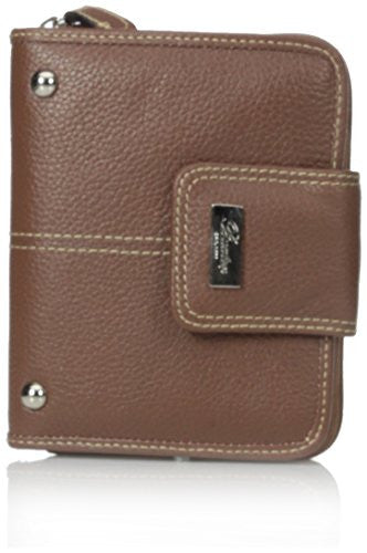 Buxton Westcott Tab Zip-Around Attached Wallet, Tan, One Size