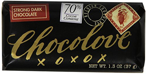 Chocolove Strong Dark Chocolate Mini Bar, 1.3-Ounces (Pack of 12)