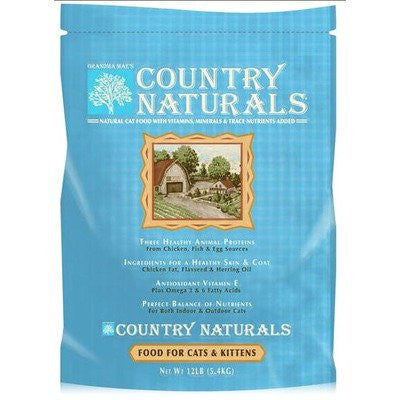 GRANDMA MAES COUNTRY NATURALS CAT & KITTEN FOOD 12 POUND