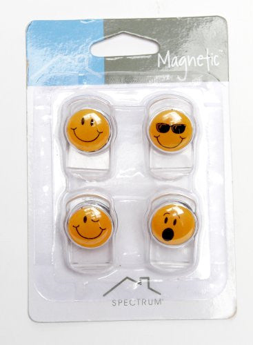 Faces Magnetic Clips 4/Card, Assorted Faces