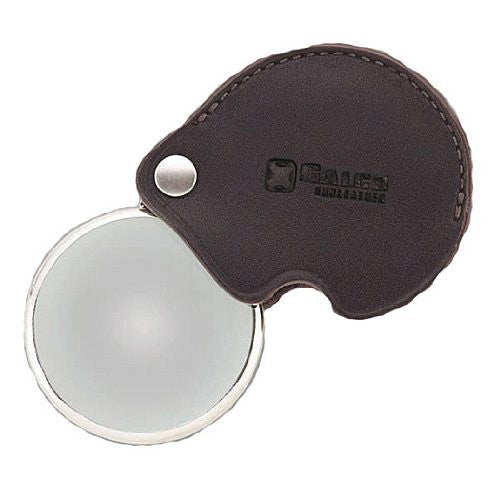 Magnifying Glass with Leather Case (Dark Havana)