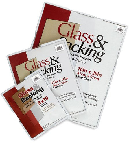 Glass And Backing Kit: Clear, 11x14