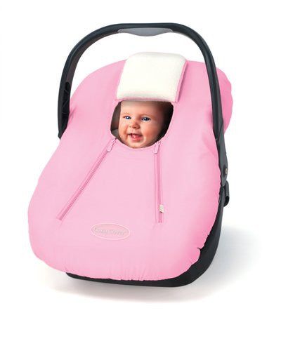 Cozy Car Seat Microfiber and Fleece Cover- Pink