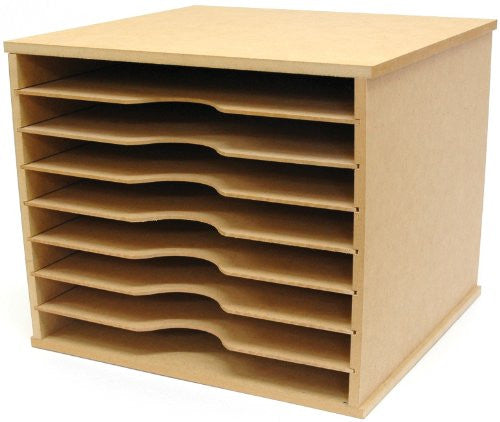 "Beyond The Page Mdf Paper Storage Unit 11"" x 13.25"" x 12.25"""
