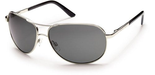 Aviator Silver with Gray Polarized Polycarbonate Lens