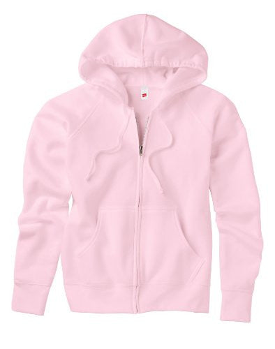 Hanes EcoSmart Cotton-Rich Full-Zip Hoodie Women's Sweatshirt, Pale Pink, Small