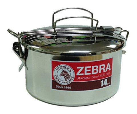 Zebra Stainless Steel Food Box - 14 cm