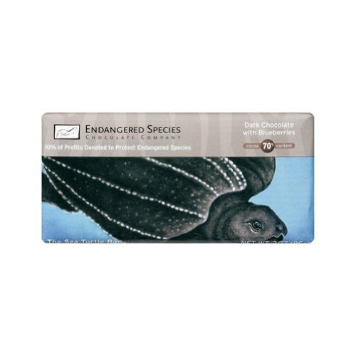 Endangered Species Chocolate Dark Chocolate Blueberries Sea Turtle 3.0 OZ