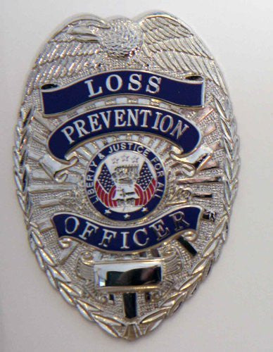Loss Prevention Officer - Breast Badge - Nickel
