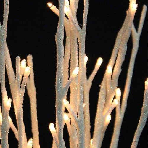 White Glitter Willow Branch 60 Light