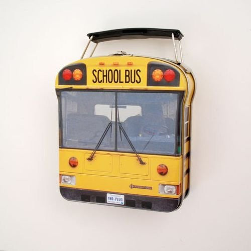 School Bus Lunchbox, Tin, 5.25""