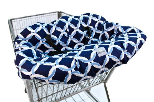 Itzy Ritzy Shopping Cart and High Chair Cover (Color: Social Circle Blue)