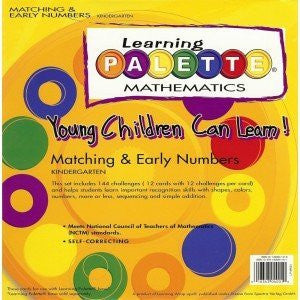 Kindergarten Math Learning Palette Numeration K.1 Early Numbers