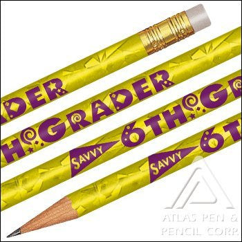 Foil Savvy SIxth Grader Pencils