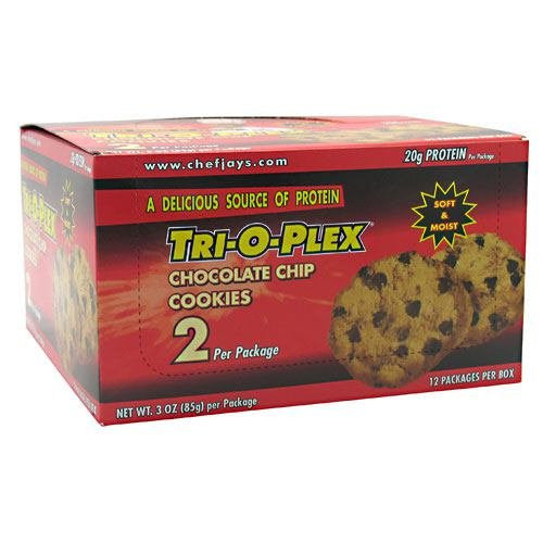 Tri-O-Plex Cookies, Chocolate Chip, 12 packs