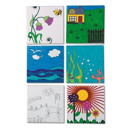 "Designer Canvas Boards, 6.5"" Sq. (Pack of 12)"