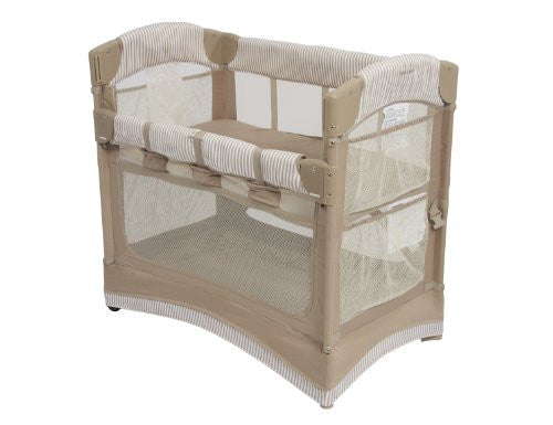 Arm's Reach Arc Mini Co-sleeper, Toffee Stripe (Discontinued by Manufacturer)