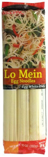 WEL PAC Asian Cooking Ingredients Noodle/Pasta Lo Mein, Egg White Only 12pk, 10oz