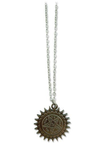 Black Butler Pentagram Metal Necklace