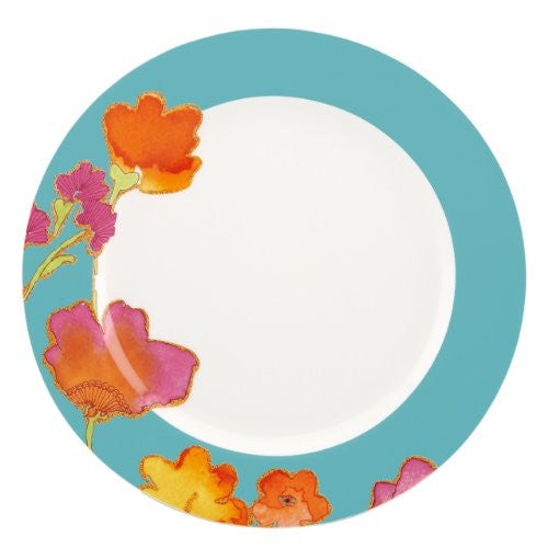 FLORAL FUSION AQUA DINNER PLATE