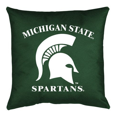 LOCKER ROOM PILLOW Michigan St Spartans - Color Dark Green - 18x18