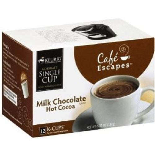 Cafe Escapes Hot Milk Chocolate Cocoa K-Cups 12.0 PC