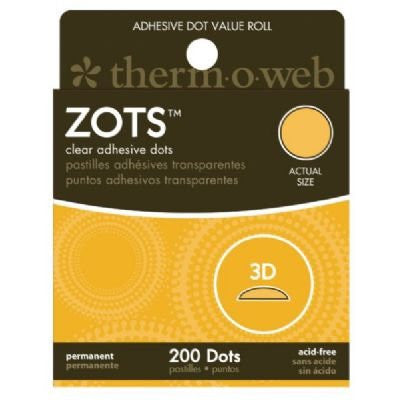 Zots, 3D 200 Dots (1/2 in. dia. x 1/8 in. thick) Roll (6 pk)