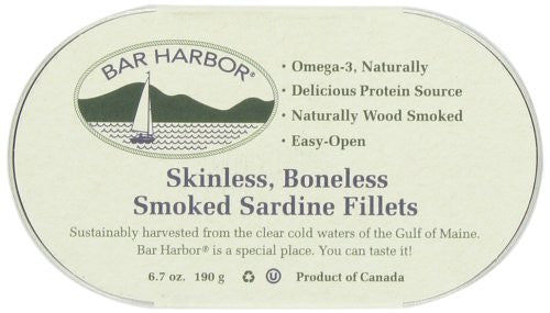Skinless Boneless Smoked Sardines, 6.7 oz