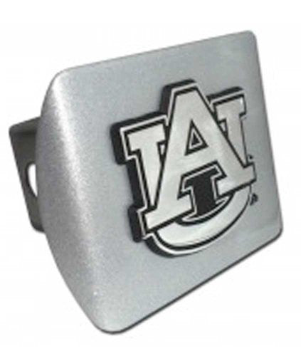 "Auburn (""AU"") Brushed Chrome Hitch Cover"
