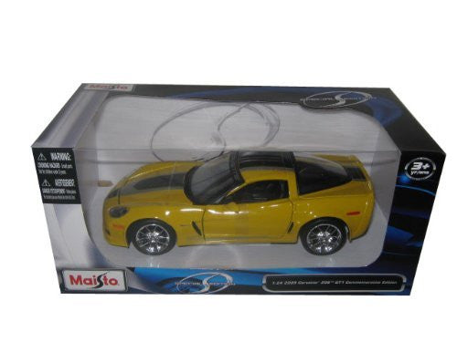 Maisto - Chevrolet Corvette Z06 GT1 Commemorative Edition Hard Top (2009, 1/24 scale diecast model car, Yellow)