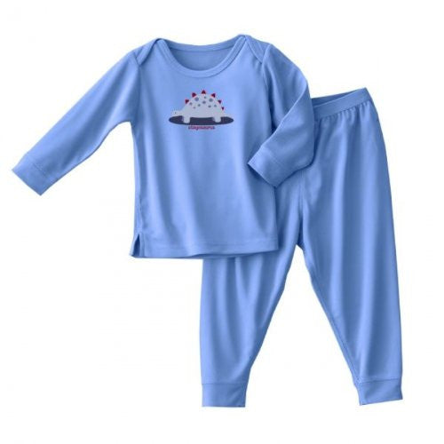 ComfortLuxe Sensitive Skin Sleepwear 2 Piece Set (Silky Blue Dino, 4T)